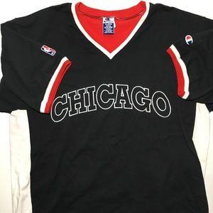 Chicago Bulls Champion Shooting Shirts 90's VTG